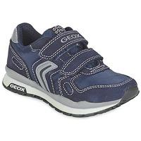 Cipők Lány Rövid szárú edzőcipők Geox J PAVEL Kék