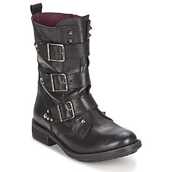 Shoes Női Csizmák Ikks RANGER-COLLECTOR-BOUCLE Fekete