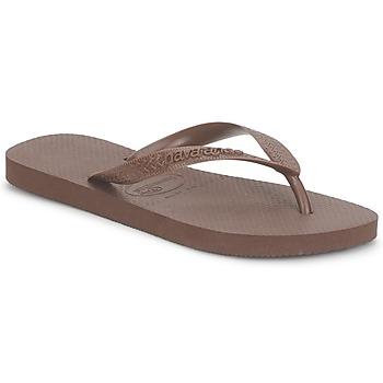 Cipők Lábujjközös papucsok Havaianas TOP Barna