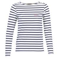Ruhák Női Hosszú ujjú pólók Betty London FLIGEME Fehér / Kék