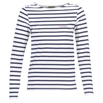 Ruhák Női Hosszú ujjú pólók Betty London IFLIGEME Fehér / Kék