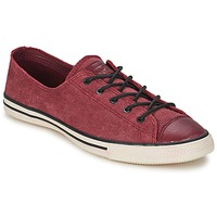 Shoes Női Rövid szárú edzőcipők Converse Chuck Taylor All Star FANCY LEATHER OX Bordó