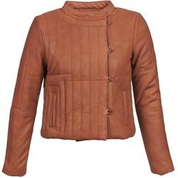 Ruhák Női Bőrkabátok / műbőr kabátok Antik Batik YOANN Konyak