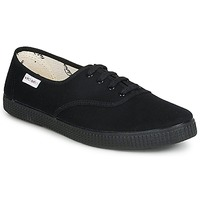Cipők Rövid szárú edzőcipők Victoria INGLESA LONA PISO Fekete