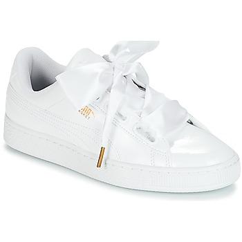 Shoes Női Rövid szárú edzőcipők Puma BASKET HEART PATENT WN'S Fehér