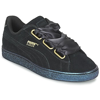 Cipők Női Rövid szárú edzőcipők Puma BASKET HEART SATIN WN'S Fekete