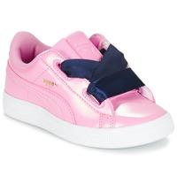Cipők Lány Rövid szárú edzőcipők Puma BASKET HEART PATENT PS Rózsaszín / Tengerész