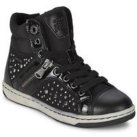 Cipők Lány Magas szárú edzőcipők Geox CREAMY C Fekete