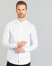 Ruhák Férfi Hosszú ujjú ingek Calvin Klein Jeans WILBERT Fehér