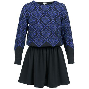 Ruhák Női Rövid ruhák Manoush GIRANDOLINE Fekete  / Kék