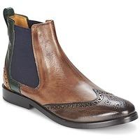 Shoes Női Csizmák Melvin & Hamilton AMÉLIE 5 Barna / Zöld / Citromsárga