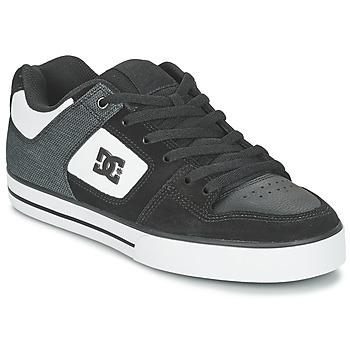 Cipők Férfi Deszkás cipők DC Shoes PURE SE M SHOE BKW Fekete  / Fehér