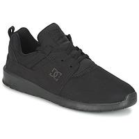 Cipők Férfi Rövid szárú edzőcipők DC Shoes HEATHROW M SHOE 3BK Fekete