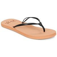 Cipők Női Lábujjközös papucsok Roxy LAHAINA J SNDL BLK Fekete