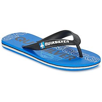Cipők Gyerek Lábujjközös papucsok Quiksilver MOLOKAI NITROYT Fekete  / Kék