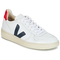 Cipők Rövid szárú edzőcipők Veja V-10 Fehér / Kék / Piros