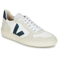 Cipők Rövid szárú edzőcipők Veja V-10 Fehér / Kék