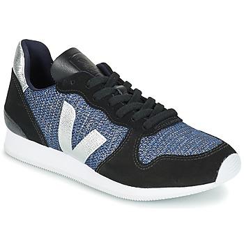 Cipők Női Rövid szárú edzőcipők Veja HOLIDAY LOW TOP Fekete  / Kék / Ezüst