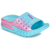 Cipők Női Futócipők Hoka one one W BONDI SLIDE Kék / Rózsaszín