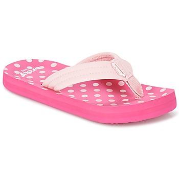 Cipők Lány Lábujjközös papucsok Reef LITTLE AHI Rózsaszín