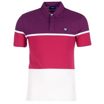 Ruhák Férfi Rövid ujjú galléros pólók Armani jeans MARAFOTA Lila / Piros / Fehér