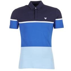 material Férfi Rövid ujjú galléros pólók Armani jeans MARAFOTA Kék