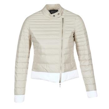 Ruhák Női Steppelt kabátok Armani jeans BEAUJADO Bézs / Fehér
