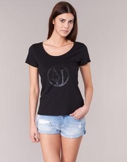 material Női Rövid ujjú pólók Armani jeans LASSERO Fekete