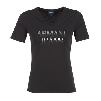 Ruhák Női Rövid ujjú pólók Armani jeans JAGONA Fekete
