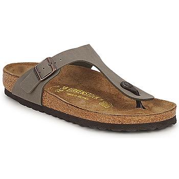 Cipők Női Lábujjközös papucsok Birkenstock GIZEH Kő