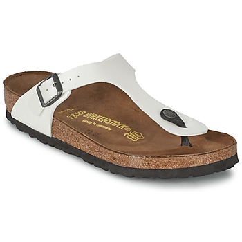 Cipők Női Lábujjközös papucsok Birkenstock GIZEH Fehér / Gyöngyházszínű