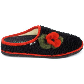 Cipők Női Mamuszok Fargeot Siberie Noir Fleur Fekete