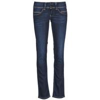 material Női Egyenes szárú farmerek Pepe jeans VENUS Kék / H06