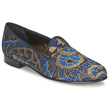 Cipők Női Mokkaszínek Etro 3046 Fekete  / Kék