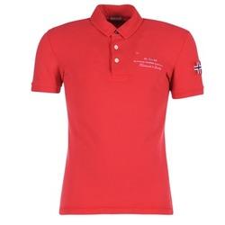 material Férfi Rövid ujjú galléros pólók Napapijri ELBAS Piros