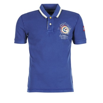 material Férfi Rövid ujjú galléros pólók Napapijri GANDYS Kék