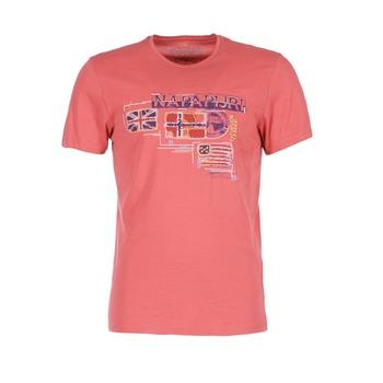 material Férfi Rövid ujjú pólók Napapijri VINTAGE Korall