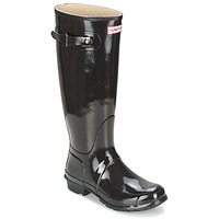 Shoes Női Gumicsizmák Hunter WOMEN'S ORIGINAL TALL GLOSS Fekete
