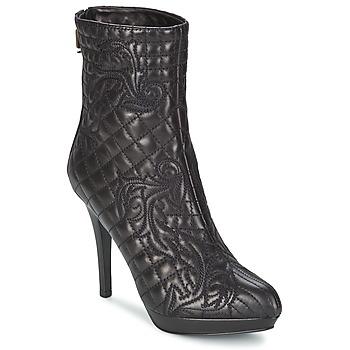 Cipők Női Bokacsizmák Versace MARGHERITA Fekete