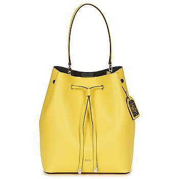 Bags Női Kézitáskák Ralph Lauren DRYDEN DEBBY DRAWSTRING Citromsárga