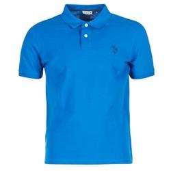 material Férfi Rövid ujjú galléros pólók U.S Polo Assn. INSTITUTIONAL Kék