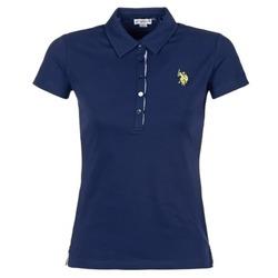material Női Rövid ujjú galléros pólók U.S Polo Assn. LOGO Tengerész
