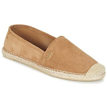 Shoes Női Gyékény talpú cipők Ralph Lauren DANITA ESPADRILLES CASUAL Teve