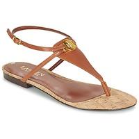 Cipők Női Szandálok / Saruk Lauren Ralph Lauren ANITA SANDALS CASUAL Barna
