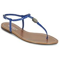 Shoes Női Lábujjközös papucsok Ralph Lauren AIMON SANDALS CASUAL Kék