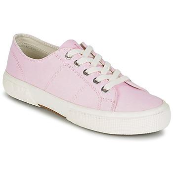 Cipők Női Rövid szárú edzőcipők Ralph Lauren JOLIE SNEAKERS VULC Rózsaszín
