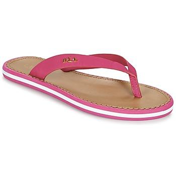 Shoes Női Lábujjközös papucsok Ralph Lauren RYANNE SANDALS CASUAL Rózsaszín