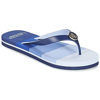 Cipők Női Lábujjközös papucsok Ralph Lauren ELISSA III SANDALS CASUAL Kék