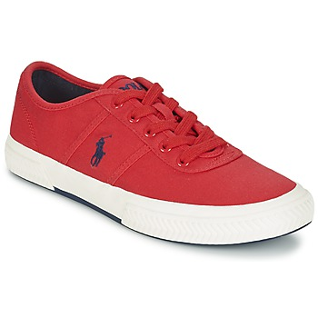 Cipők Férfi Rövid szárú edzőcipők Ralph Lauren TYRIAN Piros