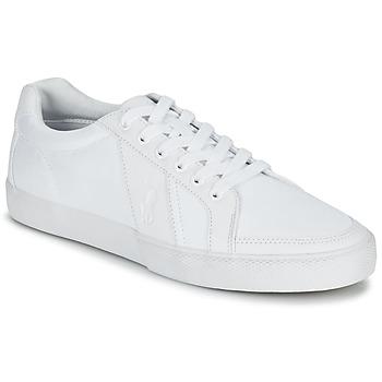 Shoes Férfi Rövid szárú edzőcipők Ralph Lauren HUGH Fehér